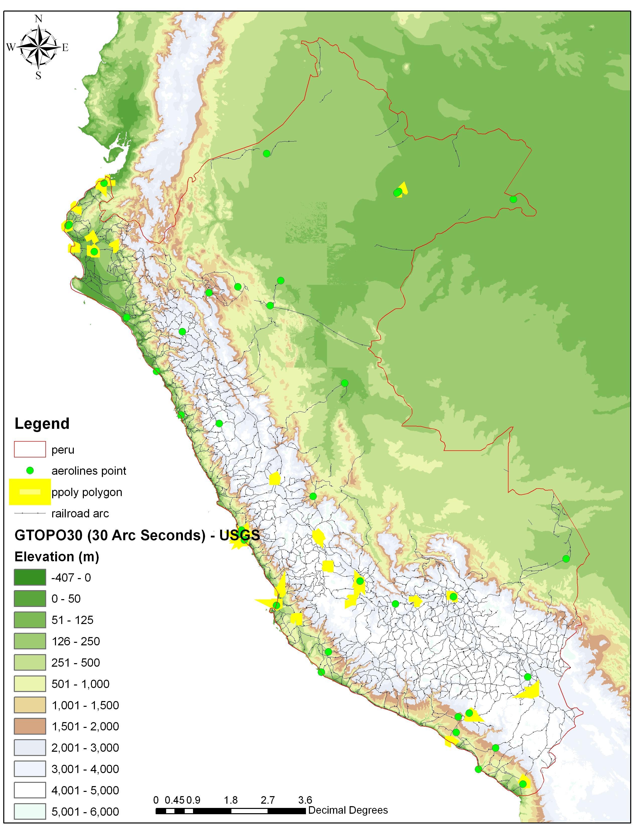 Peru Elevation Map Map Of Peru Elevation South America Americas