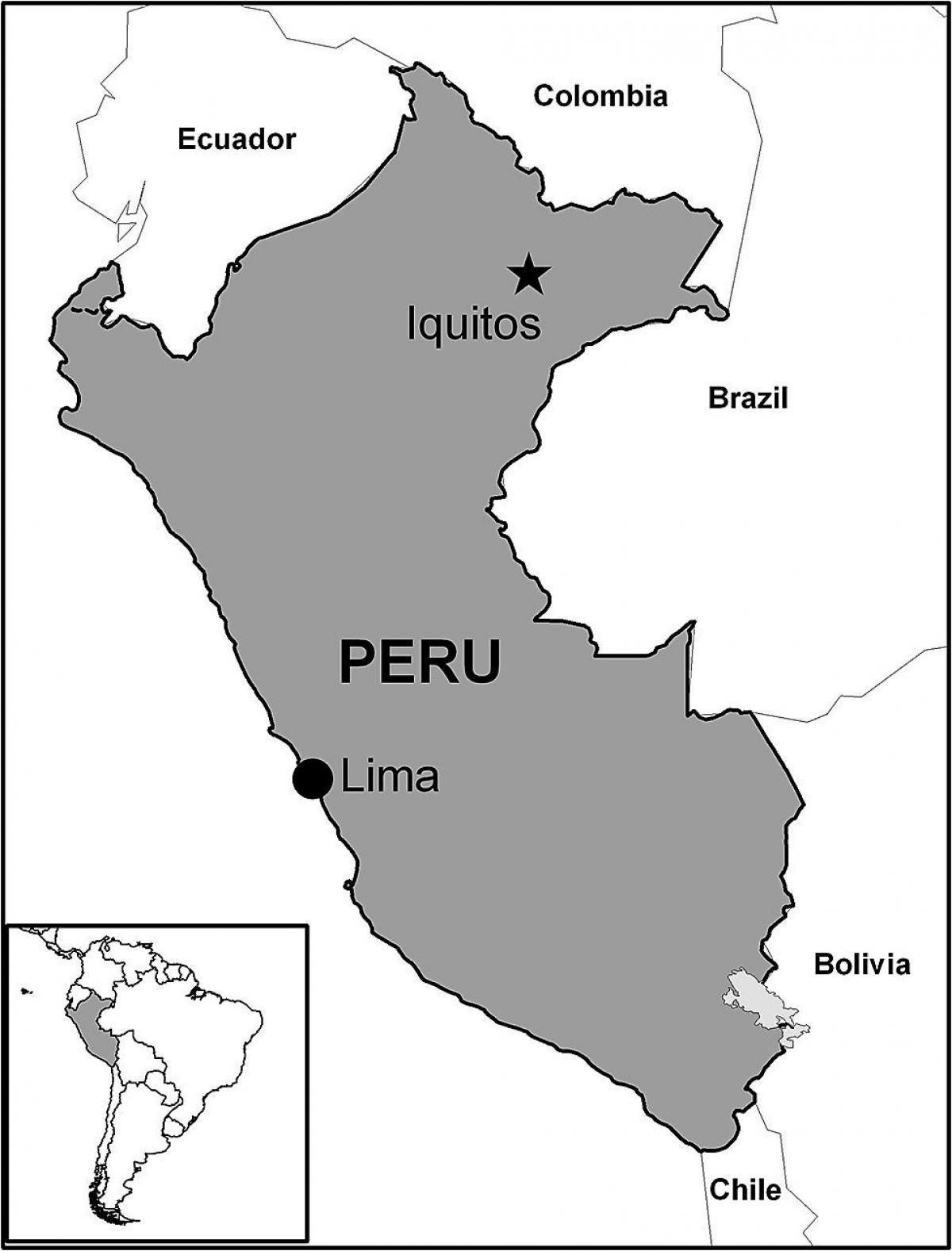 map of iquitos Peru