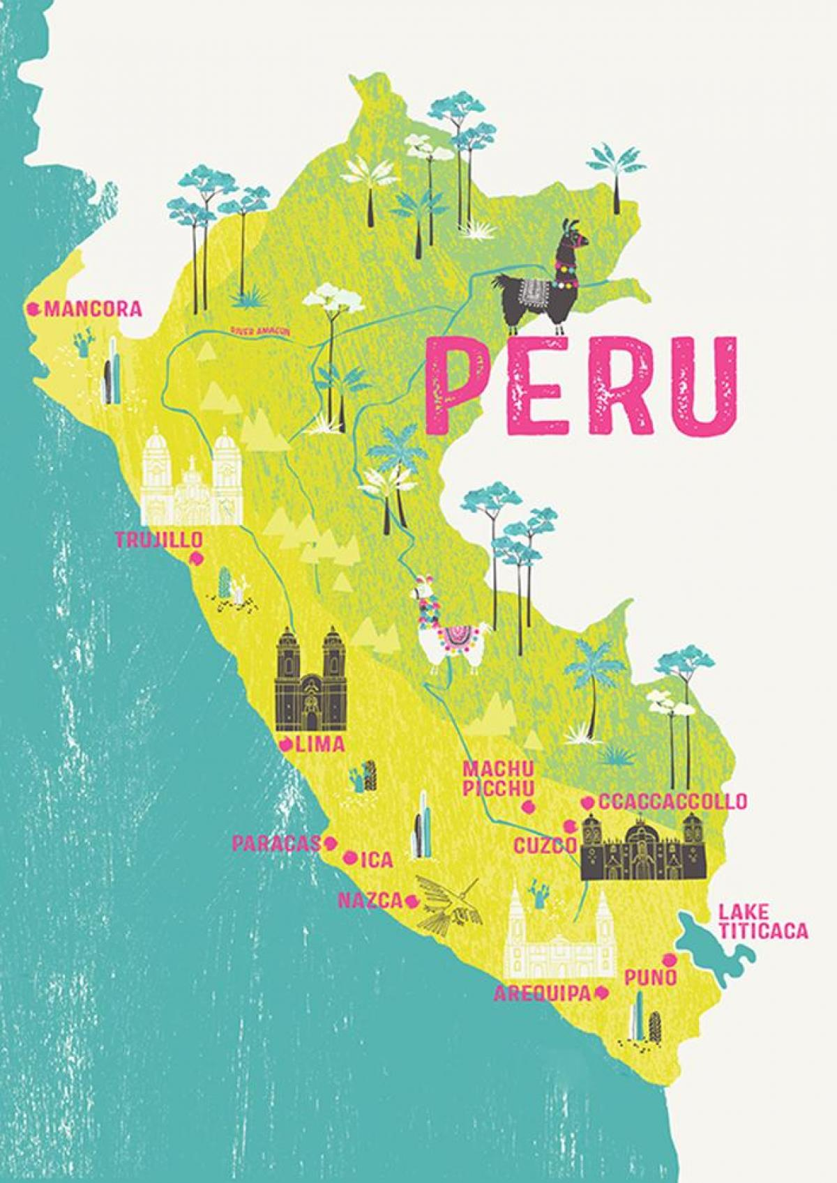 Map of Peru for kids - Map of Peru for kids (South America - Americas)