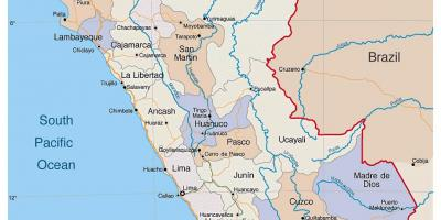 Map of detailed map of Peru