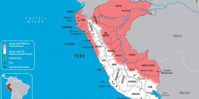 Map of Peru malaria